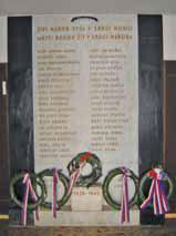 Pamětní deska v kině Sokol- zahynuvší členové Sokola Roudnice n. L. v l. 1939 - 1945